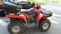 2009 Polaris 500 HO with Plow & Tow Behind Grass Cutter