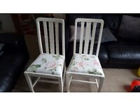 Pair of bedroom/dining chairs