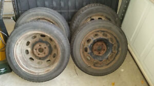 Used snow tires and rims