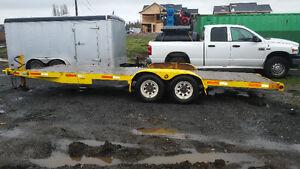 20 foot car hauler flat deck trailer