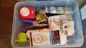 Assorted Paper Craft Supplies