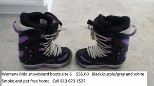 Womens Ride snowboard boots size 6