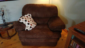 Microfiber Couch and Chair