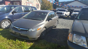 2007 Honda Civic 5 Speed Manual Transmission-Very good condition Prince George British Columbia image 1