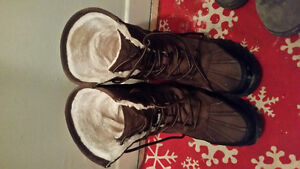 Soft moc chocolate brown snow boots for sale..buy before april 5