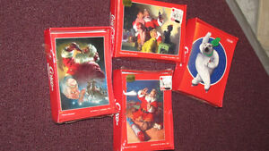 4 Boxes of Coca-Cola Christmas Greeting Cards - from 1996