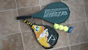 2 Tennis Racquets with case plus 3 Balls
