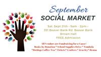 Social Market - Saturday, Sept 21st, 9am - 2pm at Brown Hall,