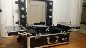 NYX Makeup Case with stand and lights