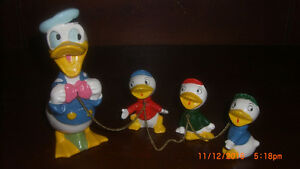1950's Walt Disney WD48 Donald Duck with Nephews Figurine
