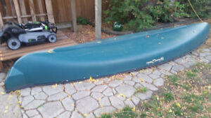 Heavy Duty Plastic 16 foot Canoe with electric motor
