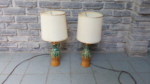 VINTAGE MID CENTURY CERAMIC TABLE LAMPS