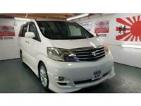 Toyota Alphard 2.4 white petrol automatic 8 seater mpv japanese import 4 grade