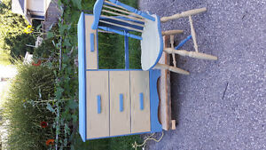 Hard Wood Desk and Chair London Ontario image 1