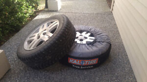 4 studded winter tires.