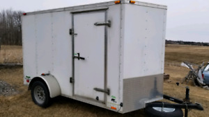 2012 Continental Covered V-Nose Trailer -  6' × 12'.