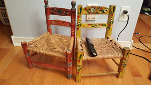 Old children's chairs