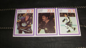 1970-71 Esso Hockey Stamps Set of 3 Bob Pulford,Gerry Meehan