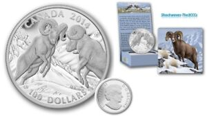 2014 Silver $100 BIGHORN SHEEP Coin