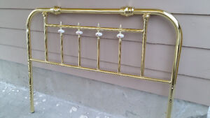 for sale double  bed golden metal frame with adjustable  two rod