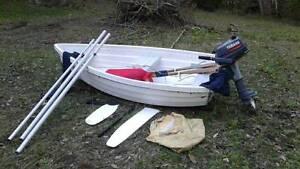 Walker bay 8ft sail kit plus 3hp motor Noosa Heads Noosa Area Preview