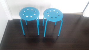 Blue Patio Side Table or Plant Stand