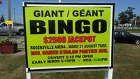 Giant Bingo Fund Raiser August 21 at 6h15pm