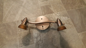 Two Bronze Ceiling Lights or Wall Sconces