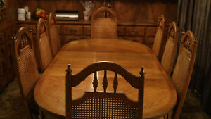 Solid Wood Antique Dining Table Set