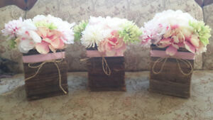 Rustic center pieces for wedding or event. 16 total