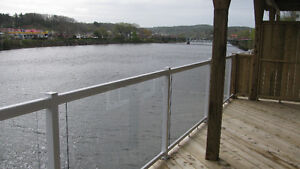 Two bedroom apartment with large balcony over Lahave River
