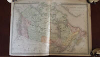 C. 1887 ANTIQUE RAND MCNALLY MAP BRITISH AMERICA CANADA