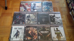 PS3 Video Game Lot - Skyrim, Batman, Call of Duty, Lost Planet