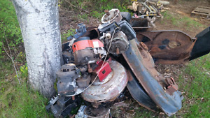 FOR SALE: mower motors, decks, a hood and some mowers