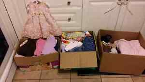 Large lot of girls clothes.