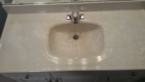 4 foot bathroom vanity countertop with taps