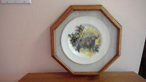 Water Buffalo or Cheetah framed collector plates Belleville Belleville Area image 3
