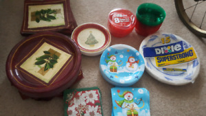Paper Plates, Napkins, Cups and Table Cloths