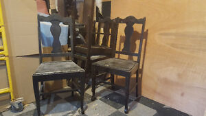 Solid wood and leather chairs Kawartha Lakes Peterborough Area image 1