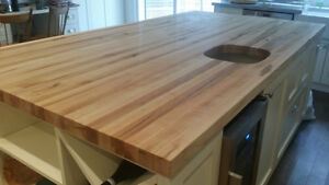 Butcher blocks,  wood countertops,  cutting boards