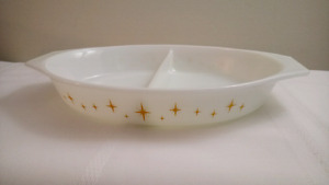 Pyrex Promotional Pattern Constellation Divided Casserole