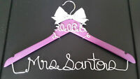 personalized custom wire wedding name hanger- starting from $20