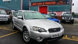 SUBARU OUTBACK 2.5 ESTATE 4X4 2004 FULLY SERVICED, CAM BELT CHANGE, VERY CLEAN
