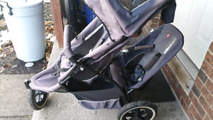 Double stroller sun faded Smoke free home