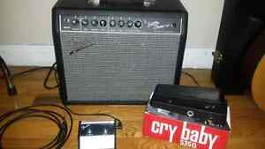 Fender amp/footswitch/wah pedal
