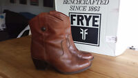 $300 Frye Boots-Jackie Button Short (Cognac)