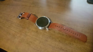 Moto 360 2nd Gen Silver w/ Brown Leather Strap - Great Condition Cambridge Kitchener Area image 5