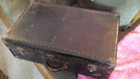 antique trunk suitcase.