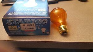 4 ampoules 40w 130v a19 culot moyen e26 couleur ambre