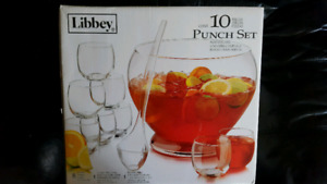10 piece punch bowl